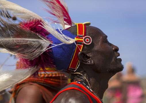 Turkana tribesman, Turkana lake, Loiyangalani, Kenya