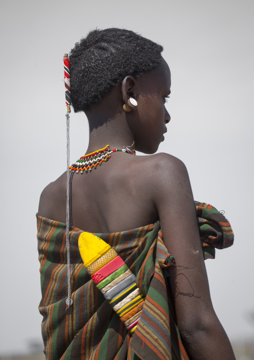 Rendille tribe boy, Turkana lake, Loiyangalani, Kenya