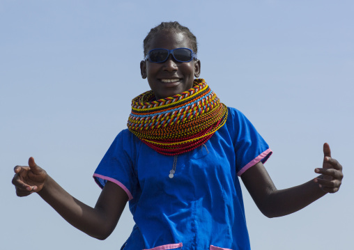 Turkana tribe teenager, Turkana lake, Loiyangalani, Kenya
