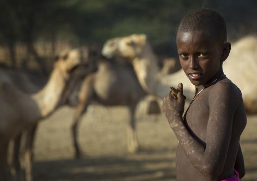 Rendille tribe boy, Marsabit district, Ngurunit, Kenya