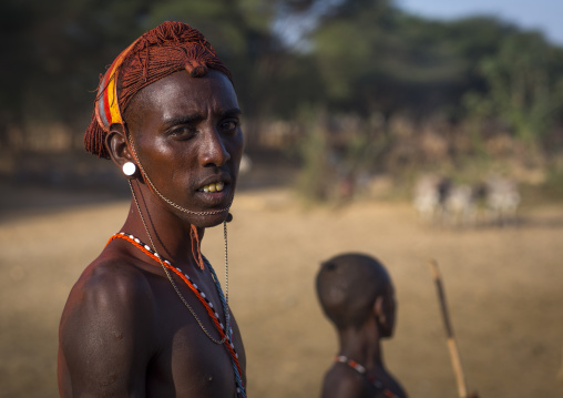 Rendille tribesman, Marsabit district, Ngurunit, Kenya