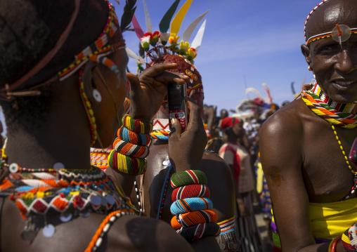 Turkana tribe people dancing, Turkana lake, Loiyangalani, Kenya