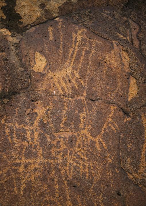 Ancient rock art, Turkana lake, Loiyangalani, Kenya