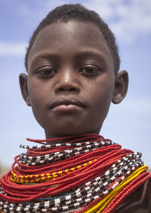 El molo tribe girl, Turkana lake, Loiyangalani, Kenya