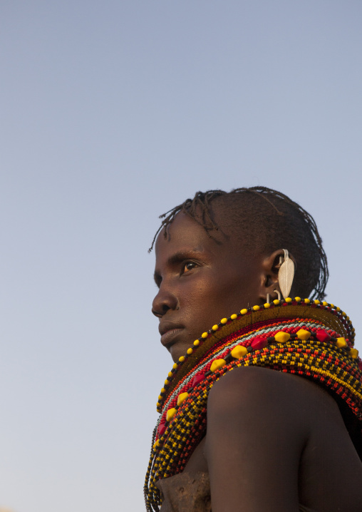 Turkana tribe woman, Turkana lake, Loiyangalani, Kenya