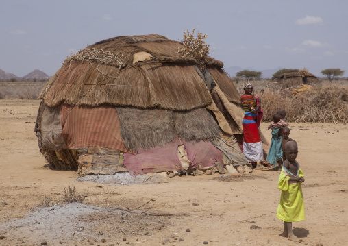 Rendille traditional hut, Marsabit district, Ngurunit, Kenya