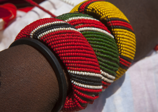 Rendille tribeswomen bracelets, Marsabit district, Ngurunit, Kenya