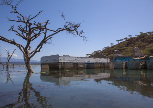 View of flooded hospital, Baringo county, Baringo, Kenya