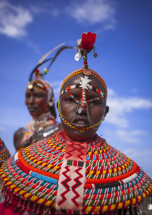 Rendille tribe men and women, Turkana lake, Loiyangalani, Kenya