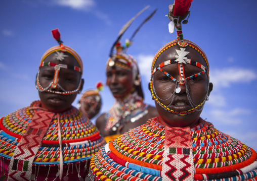Rendille tribe men and women, Turkana lake, Loiyangalani, Kenya