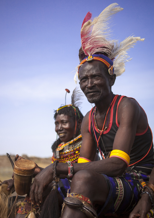 Turkana tribe couple, Turkana lake, Loiyangalani, Kenya