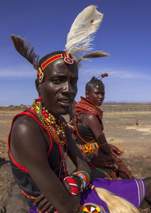 Turkana tribe couple, Turkana lake, Loiyangalani, Kenya