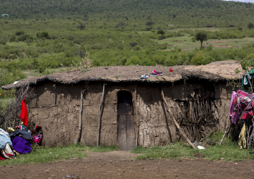 Massai traditional house, Nakuru county, Nakuru, Kenya
