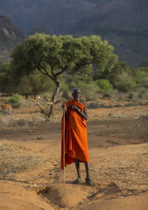 Rendille blind tribe old man, Marsabit district, Ngurunit, Kenya