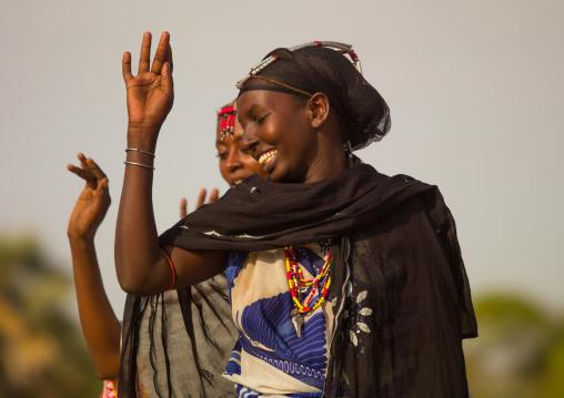 Gabra tribe women dancing, Marsabit County, Chalbi Desert, Kenya