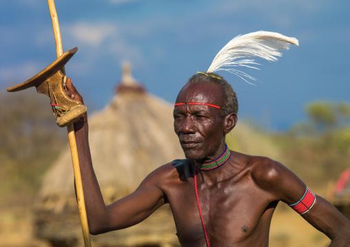 Portrait of a Pokot tribe leader, Baringo County, Baringo, Kenya