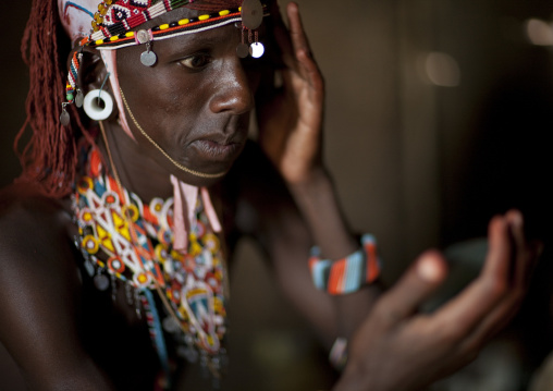 Samburu tribe warrior, Kenya