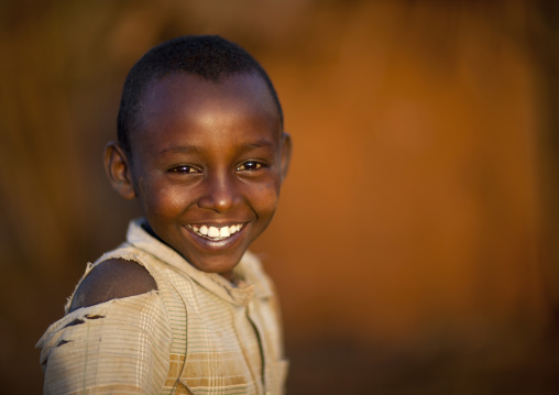 Smiling borana tribe boy, Marsabit district, Marsabit, Kenya