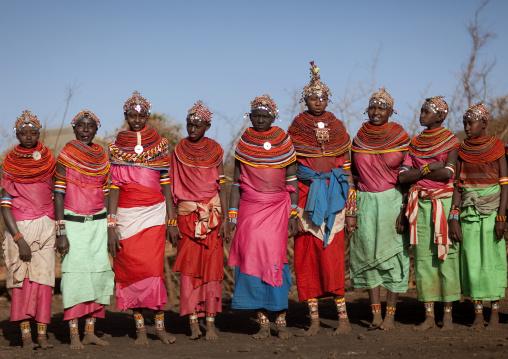 Group of Rendille tribe women, Marsabit County, Marsabit, Kenya