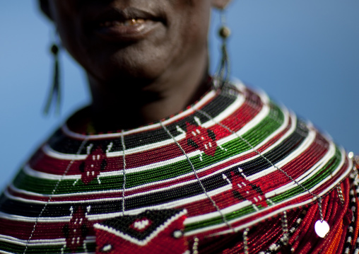 El molo tribeswoman necklace, Turkana lake, Loiyangalani, Kenya