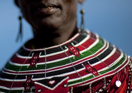 El molo tribeswoman necklace, Turkana lake, Loiyangalani, Kenya