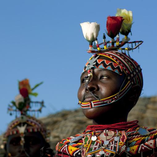 Rendille tribe girl, Kenya