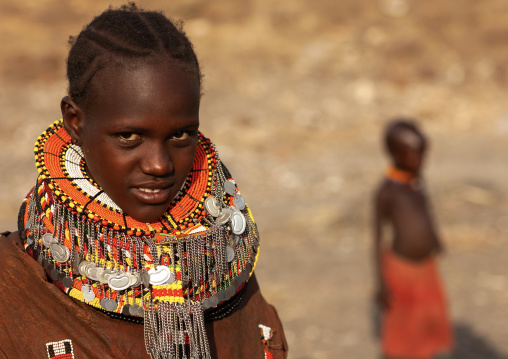 Turkana tribe woman with necklaces, Rift Valley Province, Turkana lake, Kenya