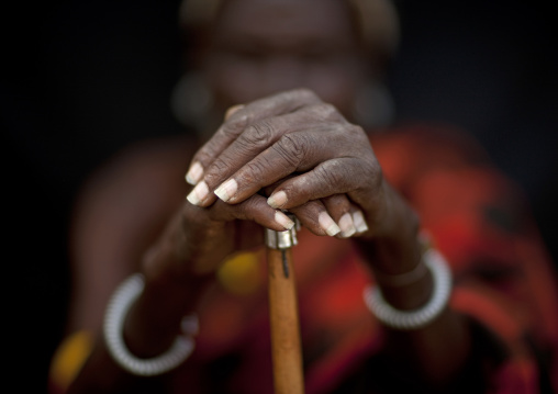 Turkana tribe man hands, Rift Valley Province, Turkana lake, Kenya