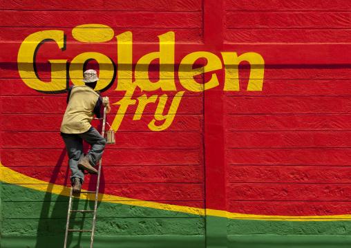 Painting adverstising, Kenya