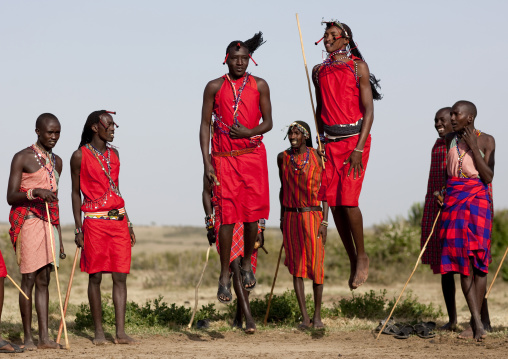 Maasai jumping in kenya