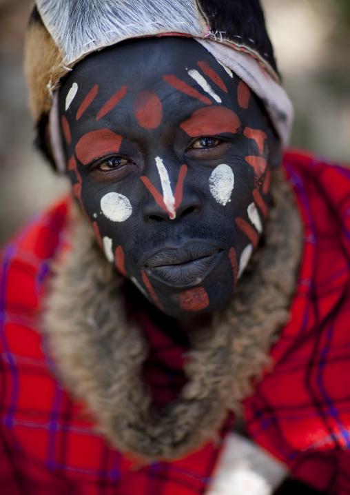 Kikuyu tribe warrior , Kenya