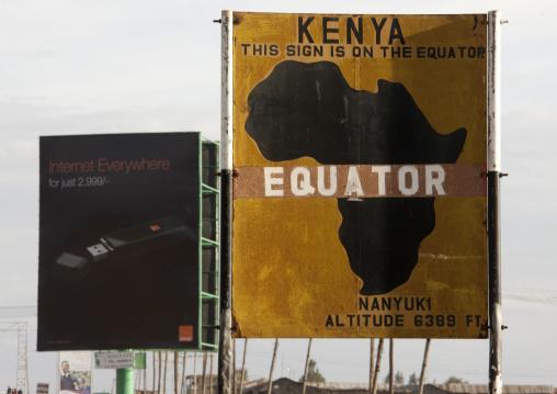 The Equator line billboard, Nakuru County, Nakuru, Kenya