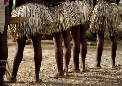 Tharaka tribe women skirts,  Kenya
