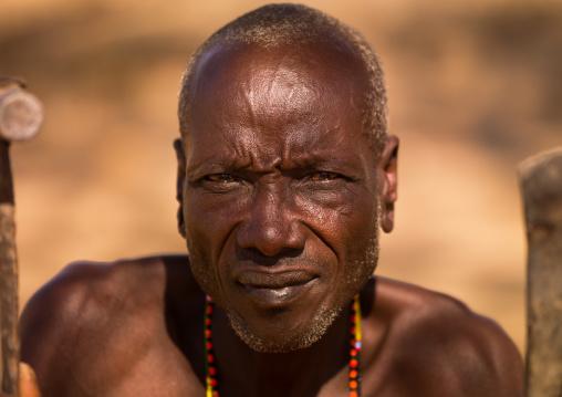 Portrait of a Samburu tribe elder, Samburu County, Maralal, Kenya