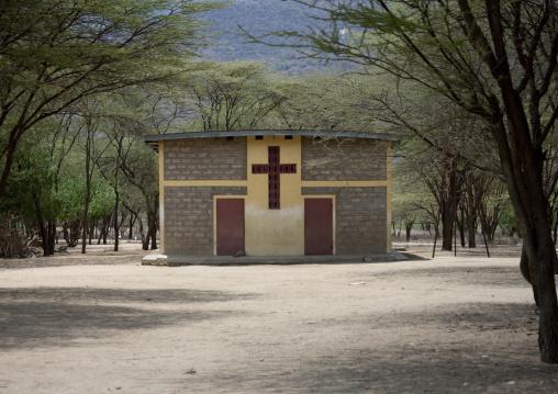 Christian church in the bush, Turkana lake, Lodwar, Kenya
