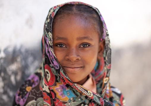Portrait of a cute swahili girl, Lamu County, Lamu, Kenya