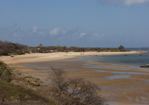 Beach at low tide, Lamu County, Manda island, Kenya