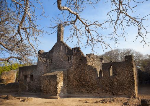 Mosque in Takwa ruins, Lamu County, Manda island, Kenya