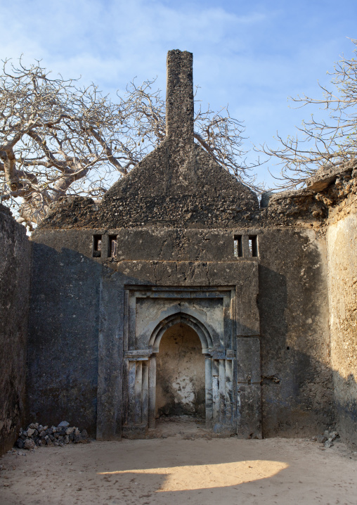 Takwa ruins of the mosque, Manda island, Lamu, Kenya