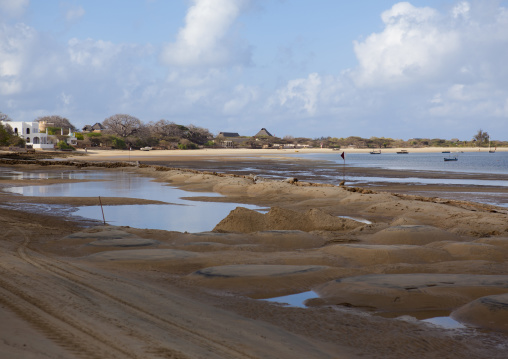 Manda island seashore and beach, Lamu, Kenya