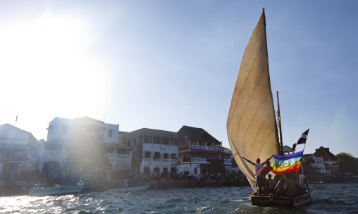 Dhow race during maulidi festival in lamu - kenya