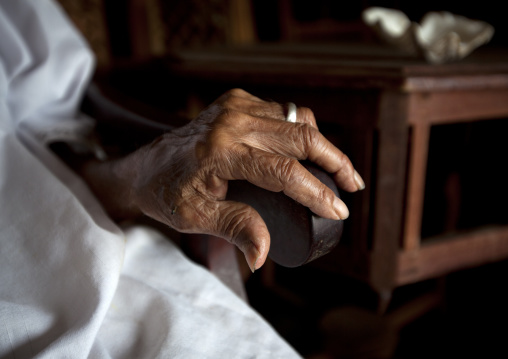Hand of wood carver of lamu, Kenya