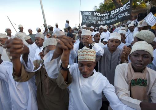 Muslim people celebrating the Maulid festival, Lamu County, Lamu, Kenya