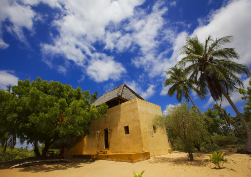 A house alongside the sand beach in shela, Lamu, Kenya