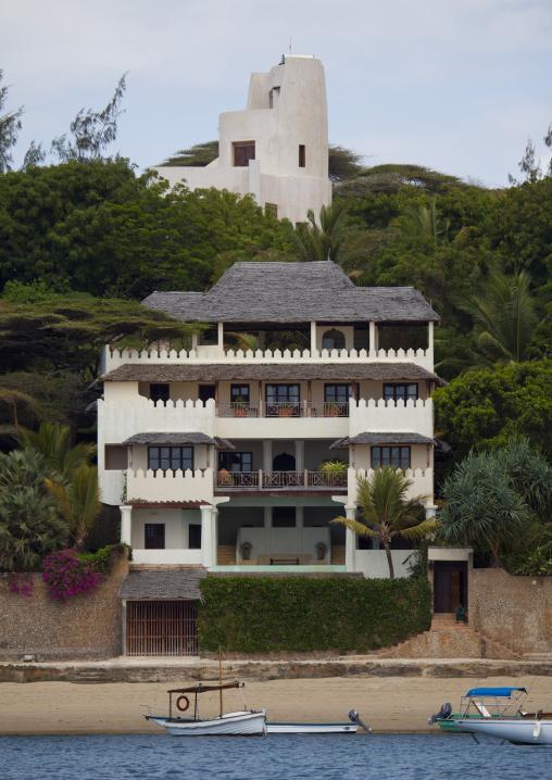 Prince of hanover estate house view from the sea, Lamu, Kenya