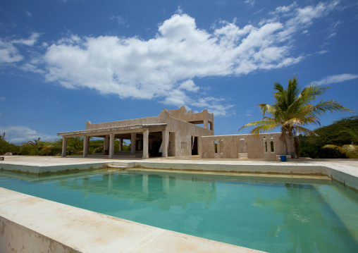 Swimming pool  of chouraqui estate in manda island, Lamu kenya