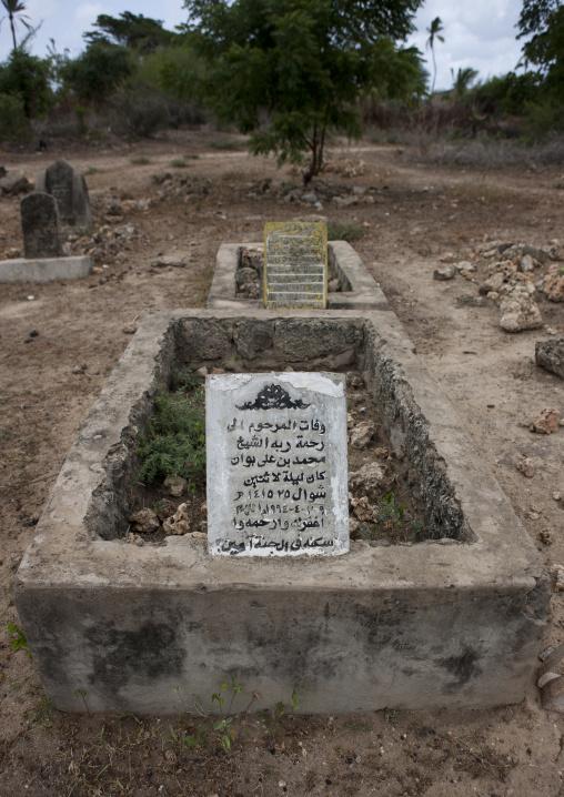 A stone grave in  cemetery, Pate island, Lamu kenya