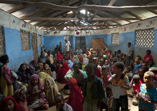 Children studying in a coranic school, Lamu County, Pate Island, Kenya
