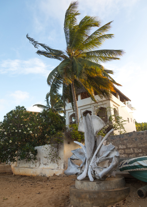 Monument made with whale bones, Lamu county, Shela, Kenya