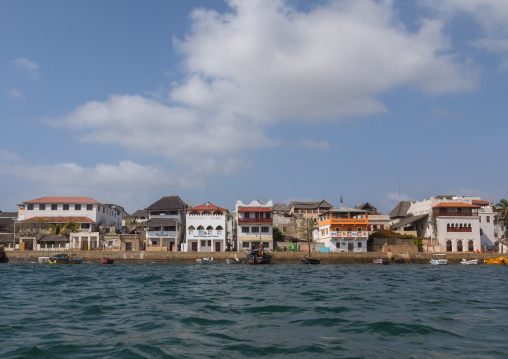 The old town seen from the sea, Lamu county, Lamu town, Kenya